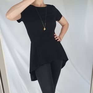 COS black tunic top size XS